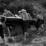 Коля Головчинер: Перенос плотины. Река Шелонь, 1960г.