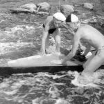 Коля Головчинер: Пороги на Шелони. Коля справа, 1960г.