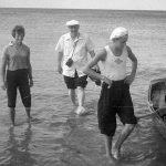 Коля Головчинер: Встреча Г.Н.Караева на Чудском озере, 1960г.