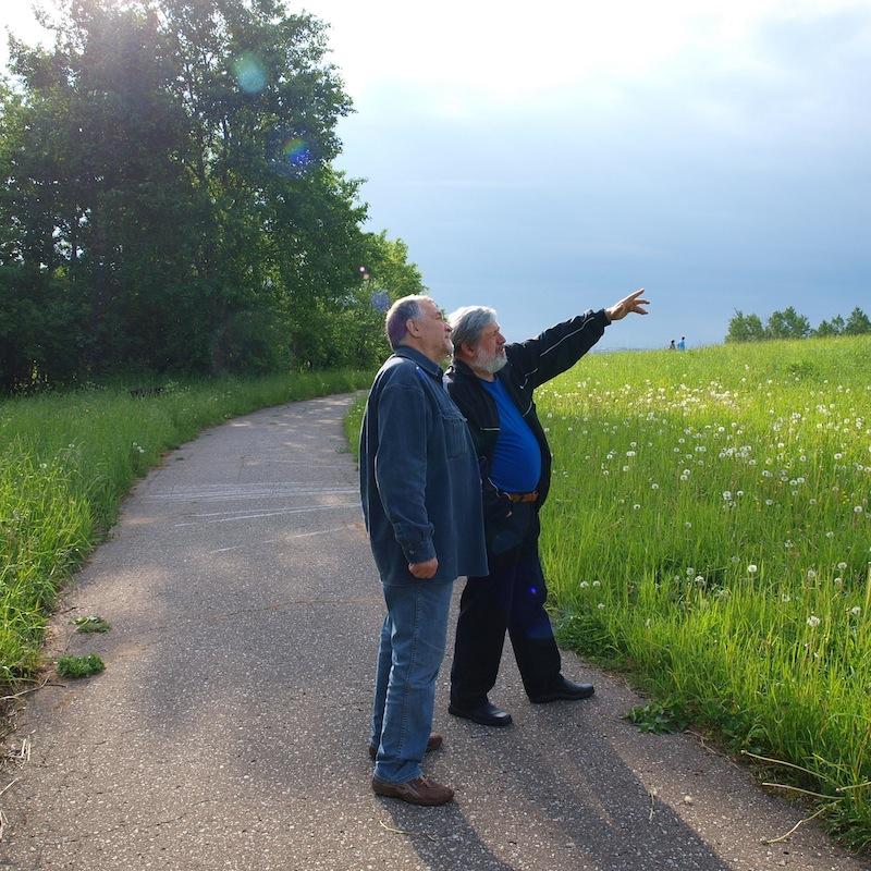 В.Потресов и А.Козловский (справа) на Соколихе